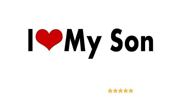 WitnyStore Son I Love My Sticker Heart Decal Vinyl Bumper Decor CAR Graphic Wall