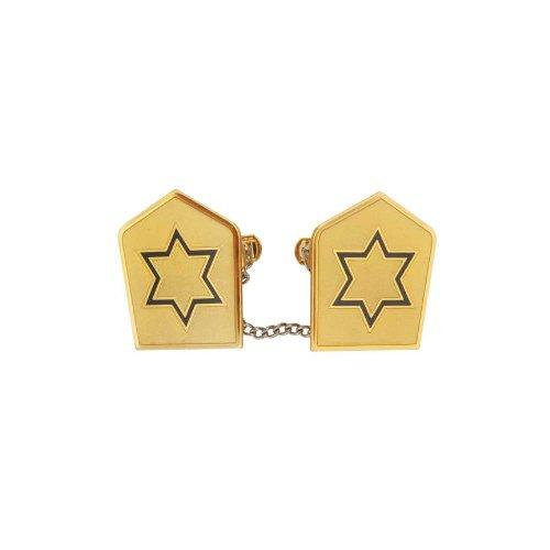 Blue Star of David Gold Tallit Clips - Tallit Clip Star
