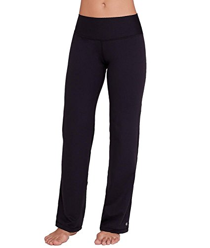 Champion Yoga Pants - Champion Women's Absolute Semi-Fit Pant With SmoothTec Waistband, Black, Medium