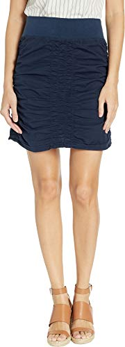 XCVI Women's Wearables Solid Trace Skirt Anchor Navy Small