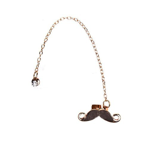 Earring Cuff with Mustache Cartilage Earrings Ear Cuffs Mustache Chain Dangle