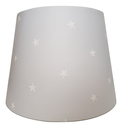 Grey With White Stars Lampshade or Ceiling Pendant Light Shade Large ...