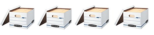 Bankers Box Stor/File Storage Boxes with Lift-Off Lid, Letter/Legal, (57036-04) (4 X Pack of 6)