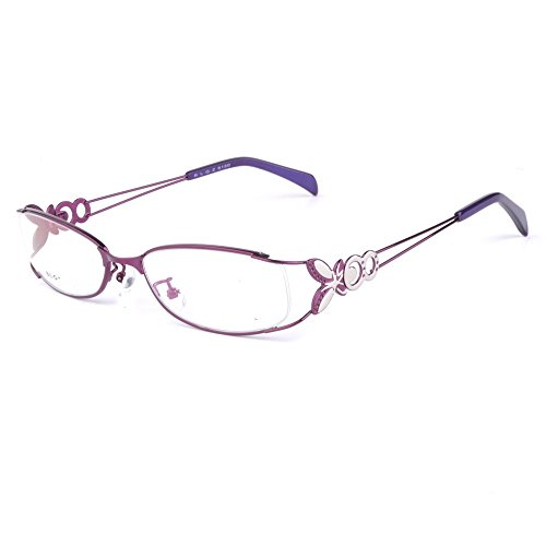 Langford original eyeglasses frame oval women optical glasses vintage gold 6150 (Purple, 52mm)