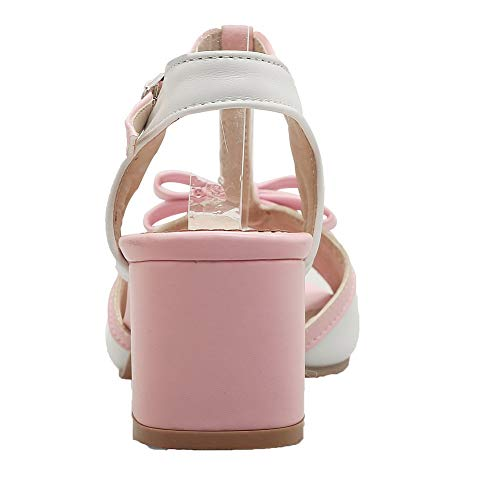medio sandali tacco con Women Aalardom Tsmlh007186 Bianco Colors con Pu assortiti Abito n80aXBq