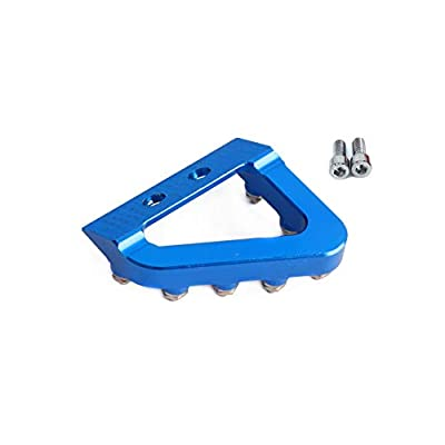 AnXin CNC Rear Brake Pedal Step Plate Tip For Husqvarna TC125 FC350 FC450 FE250 FE350 FE450 FE501 FX350 FX450 FS450 TE250 TE300 TE250I 300I Motorcycle - Blue: Automotive