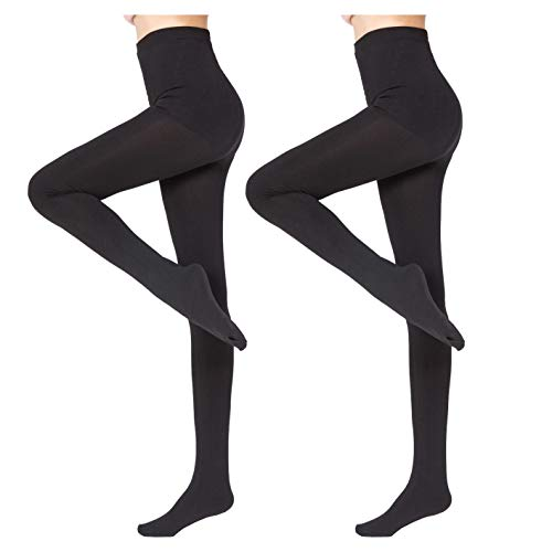 2 Pairs Women Winter Thick Warm Fleece Lined Thermal Stretchy Pantyhose Tights-812S