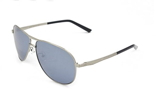 VEITHDIA 2556 Premium Metal Frame Polarized Aviator Sunglasses 100% UV Protection (Silver Frame/Mirrored Lens, - Name Discount Brand Sunglasses
