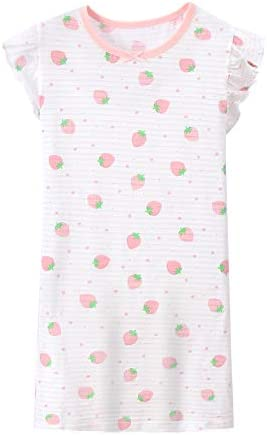ABClothing Girls Cotton Cherry Nightgown Pink 3-14 Years Old