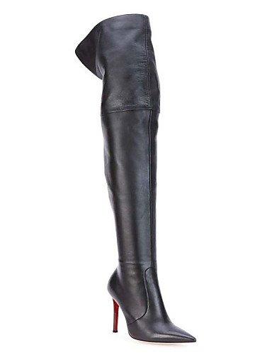 eu43 Stiletto zapatos Xzz us2 Semicuero Tacón Black us11 casual us11 fiesta La Black botas Mujer cn44 Black uk9 De cn44 Puntiagudos A Trabajo Botas Moda Oficina Oklop Eu32 Cn31 eu43 Uk1 Y Noche uk9 5 5X1dqw1