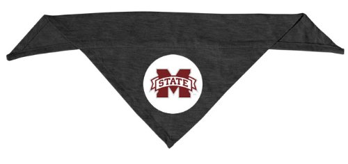 Dog Zone NCAA Pet Cotton Bandana, Small, Mississippi State University