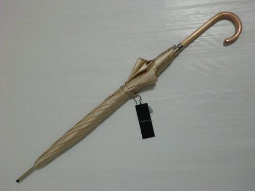 [バーバリー]BURBERRY長傘女性用婦人ホースマークロゴ地模様薄ベージュ日本製