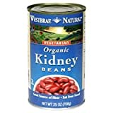 Westbrae Natural Vegetarian Organic Kidney Beans, 15 Ounce Cans (Pack of 12) ( Value Bulk Multi-pack)