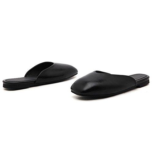 Coolcept Zapatos Comodos Mulas Para Mujer Black