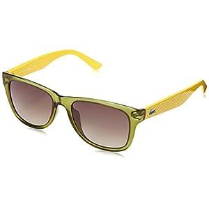 Lacoste L734S Wayfarer Sunglasses, Green, 52 mm