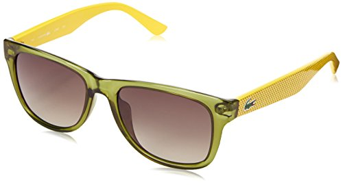 Lacoste L734S Wayfarer Sunglasses, Green, 52 mm