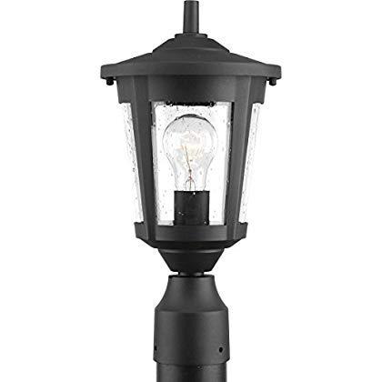 Progress Lighting P6425-31 Contemporary/Soft 1-100W Med Post Lantern Black [並行輸入品] B07QYHLMKH