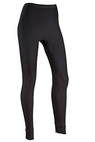 Indera Womens Icetex Performance Thermal Underwear Pant with Silvadur, Black, Medium