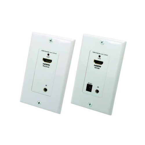 Jack Gange Plate Almond (Wall Plate, HDMI Extender Over Dual Cat5e / Cat6 With Power, 50 meter Working Distance)