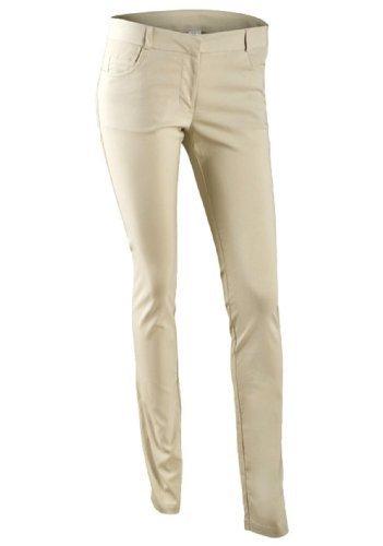 New Ladies Cream Slim Leg Stretch Bengaline Trousers Pants Womens ...