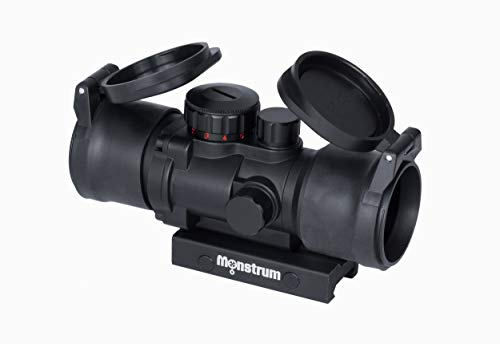 Monstrum Tactical S330P Ultra-Compact 3X Prism Scope (Black with Flip-Up Lens ()