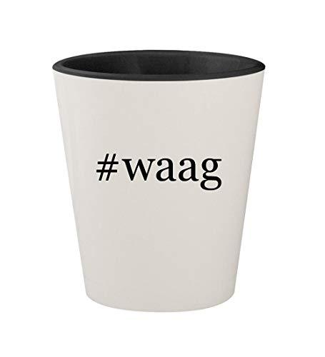 #waag - Ceramic Hashtag White Outer & Black Inner 1.5oz Shot Glass -