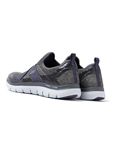 Sportlichen 0 Appeal Skechers und Holzkohle Running Trainers Einlegesohle Damen Einen für Air 2 Eyed Memory Flex Foam Tragekomfort Bright mit Look Cooled rEEIqPx