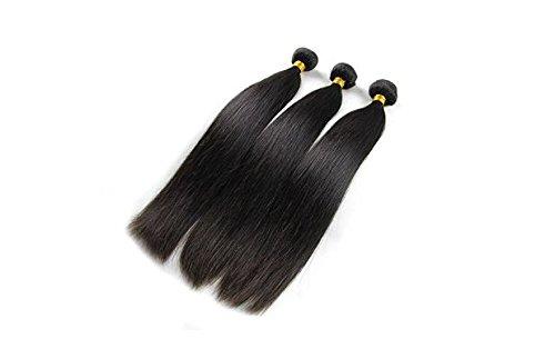 Virgin Brazilian Straight Human Hair Hair Extentions Natural Black Color 150g (20 22 24)