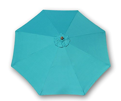 9ft Umbrella Replacement Canopy 8 Ribs in Turquoise Olefin (Canopy Only)