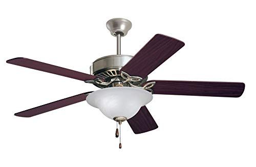 Emerson Ceiling Fans CF712BS Pro Series Indoor Ceiling Fan With Light, 50-Inch Blades, Brushed Steel Finish