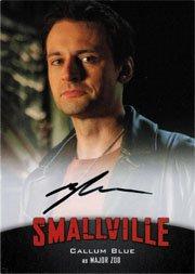 Smallville Seasons 7 thru 10 A3 Autograph Card Callum Blue as Major Zod