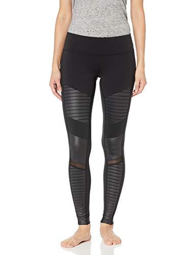 Alo Yoga Women's Moto Legging, Black/Black Glossy, Medium (Best Brand For Thick Leggings)