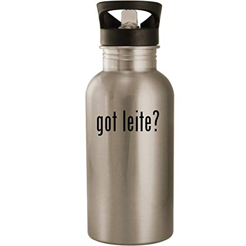 got leite? - Stainless Steel 20oz Road Ready Water Bottle, Silver