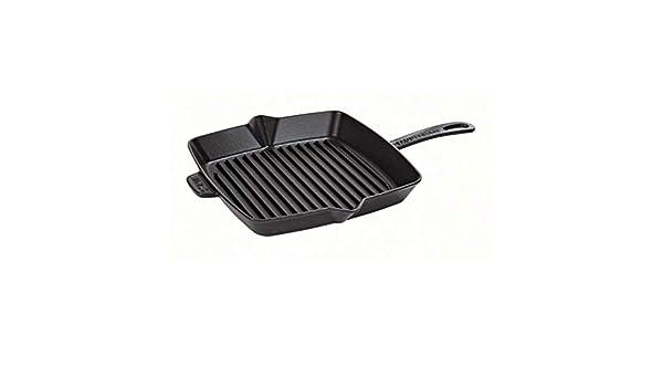 Staub Sarten Tipo Grill Americano Cuadrado 26x26 centímetros Negro: Amazon.es: Hogar
