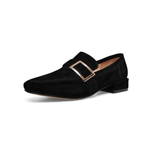 Klassieke Casual Loafers Voor Dames - Mocassins Met Zachte Slip Op Schoenen 87y Zwart
