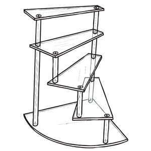 Acrylic Spiral Stairway Display Steps