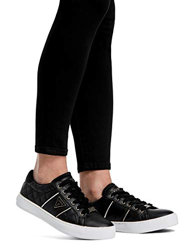 GUESS Factory Women s Gilda Quilted Leather Low-Top Sneakers Black 80c5dedcec