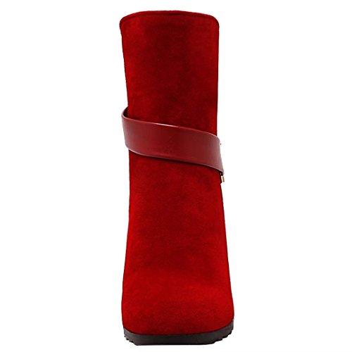 AIYOUMEI Women's Classic Boot Red 2lHQtkJ
