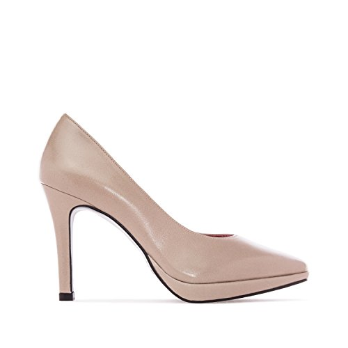 Andres Machado.amanda.pumps In Leather.made In Spain.Mujeres Petite & Large Szs: Us 2 A 5 - Us 10.5 To 13 Sienna Leather