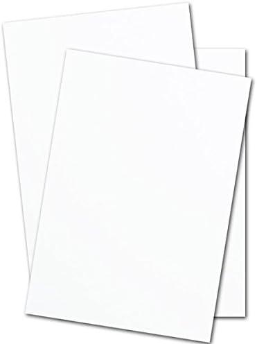Amazon.com: Cartulina de seda blanca mate de 130 libras ...