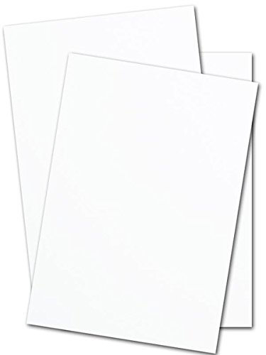 White Silk Matt Card Stock 130lb. Cover (300gsm) - 50 Pk (Choose your size) (11 x 17) by S Superfine Printing