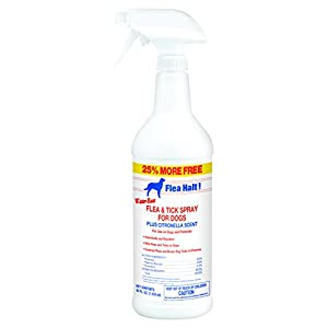 Flea Halt! Water-Based Flea & Tick Spray for Dogs Plus Citronella Scent, 40 fl oz 104