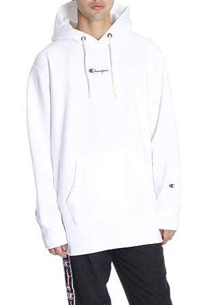 Champion - Sweat-Shirt à Capuche - Homme Blanc Weiß - Blanc - Small 88d6faf2fc08