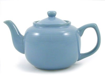 Powder Blue Classic 6 Cup Ceramic Teapot