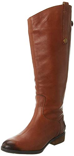 Sam Edelman Women's Penny 2 Wide Shaft Riding Boot, Whiskey Leather, 9.5 M US
