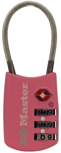 Master Lock 4688DPNK Breast Cancer Research Foundation TSA Resettable Travel Lock, Pink (Lock Instructions Tsa)