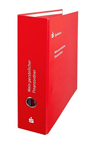 1 x A4 sparkassen Financieros carpeta archivador, Color rojo, incluye 11 accesorios de registro