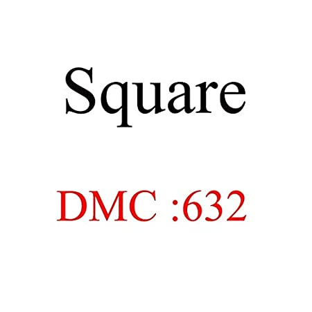 ShineBear DIY Bead DMC square diamond Diamond Embroidery 5D Diamond Painting tool Cross Stitch 3D Diamond Mosaic Decoration beads crafts Color: 605