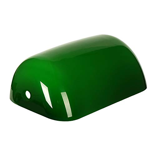 Newrays Green Glass Bankers Lamp Shade Replacement Cover,L8.85 W5.11 (Green Shade Lamp Glass)