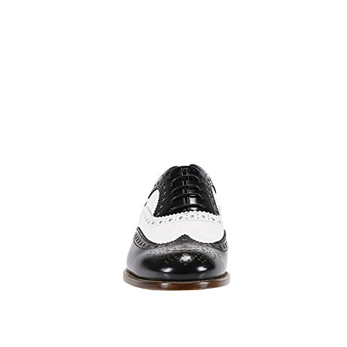Church's Mujer DE00329IPF0ACC Blanco/Negro Cuero Zapatos De Cordones